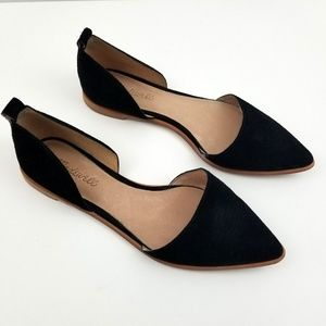Madewell Black Leather D'Orsay Flat